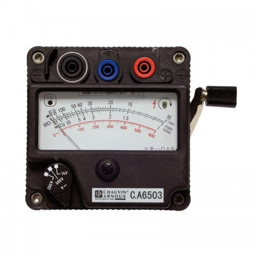 CONTROLEUR ISOLEMENT ANALOGIQUE A MAGNETO C.A 6503