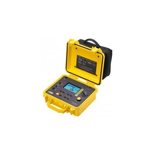 CONTROLEUR D'ISOLEMENT NUMERIQUE AVEC BARGRAPHE 50V A 1kV AVEC MEMOIRE/RS232 EN BOITIER CHANTIER  C.A 6543