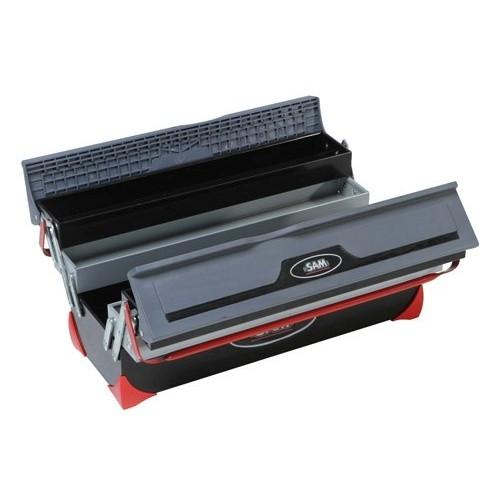 Caisse à outils bi-matière série longue 5 cases