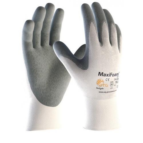 Gant gris/blanc