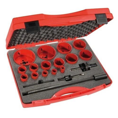 Coffret scies de 15 diamètres et accessoires