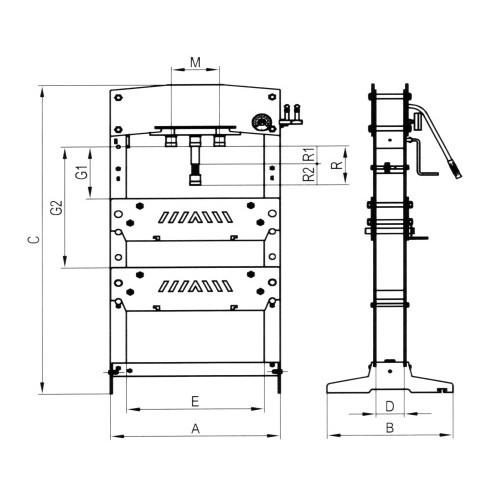 Presse Hydraulique d'atelier de 20 à 50 T