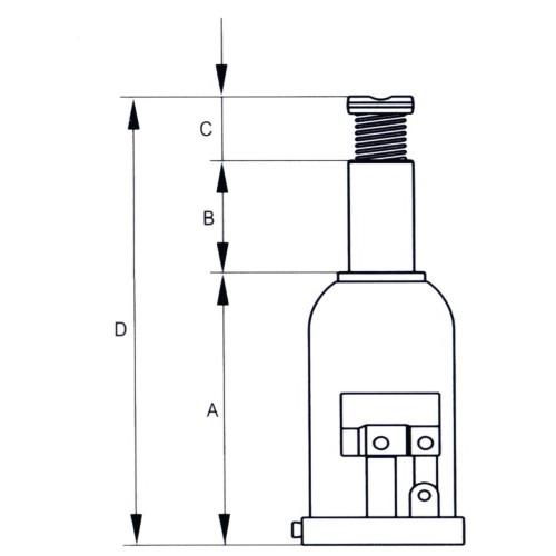 Cric bouteille de 2 a 30 T