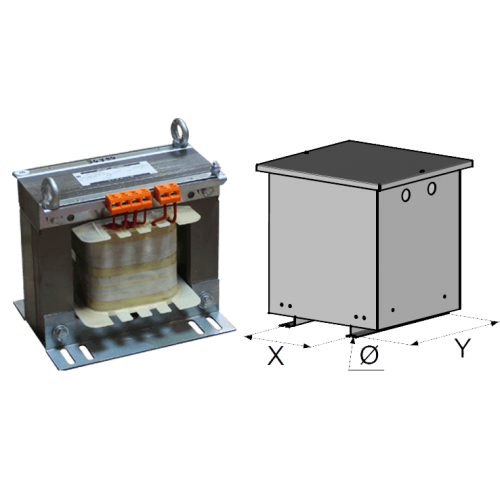 Transformateurs monophases abrités 3,15 KVA