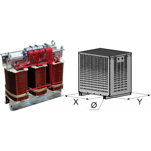 Transformateurs triphase abrités 80 KVA